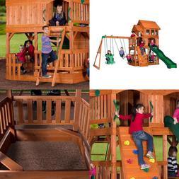 Step2/Backyard Discovery Edgewood All Cedar Wooden Swing Set