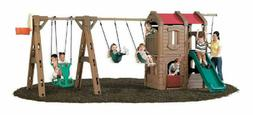 Step2 Naturally Playful Adventure Lodge Play Center Swing Se