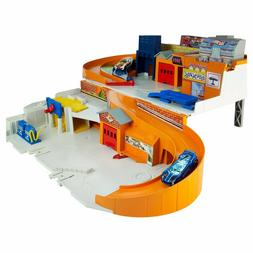 Hot Wheels Sto & Go Portable Playset Boy's Gift age 3, 4, 5,