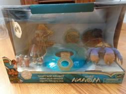 Disney Store Deluxe Moana Projection Boat Figure Doll Playse