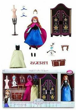 Disney Store Frozen Anna Mini Doll Wardrobe Play Set 5.5 in