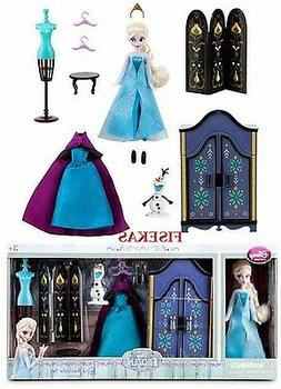 Disney Store Frozen Elsa Mini Doll Wardrobe Play Set 5.5 in