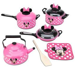 Disney Store Minnie Mouse Kitchen Play Set Pots n Pans Cooki