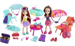 Polly Pocket Stunt N Style Friends Getaway Giftset