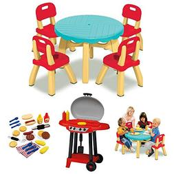 Kids 5-Piece Summertime Chairs & Table Patio Set, American P