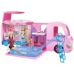 Barbie Super Dream Camper, adventure camping playset, pink,