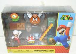 "Nintendo Super Mario Lava Castle 2.5"" Figure Diorama Play Se"