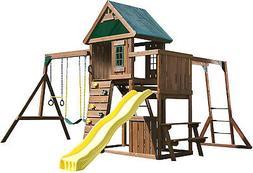 Swing-N-Slide Chesapeake Wood Complete Play Set with Two Swi