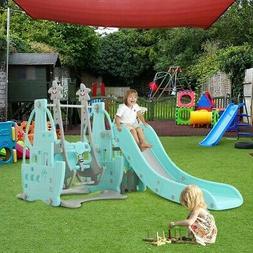 Swing Set For Backyard Playground Slide Fun Playset Outdoor