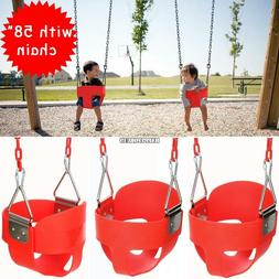 Full Bucket Swing for Toddler Seat Set Outdoor Play With 58""