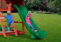 SWING SET STUFF 12' SUPER SLIDE GREEN accessories playset pl