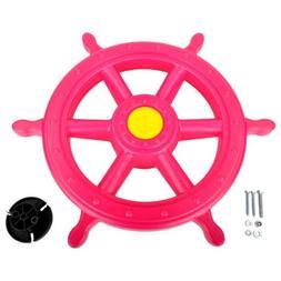 SWING SET STUFF INC. SHIPS WHEEL PINK  toy boy girl fun outd
