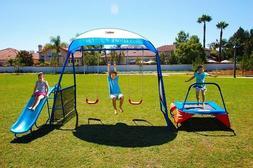 Swing Sets for Backyard Playground Kids Outdoor Fun Trampoli