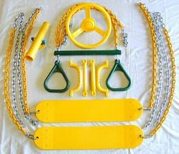 Swingset Swing Kit,belt swings,trapeze,play set accessories,