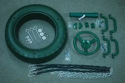 "swingset tire swing kit  wheel telescope handles 54"" PVC zp"