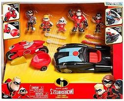 The Incredibles 2 Junior Family 8-Pack Action Figure Play Se