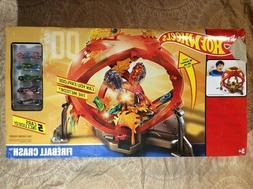 Hot Wheels Throwback Fireball Crash Playset - Orange