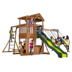 thunder ridge cedar wood playset