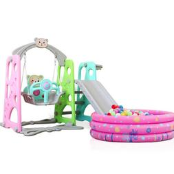 Toddler Baby Kids Play Slide Set Climber Playset Playground