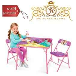 Toddler Children Kids Disney Princess Table And Chair Play T