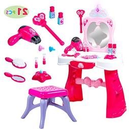 JOYIN Toddler Fantasy Vanity Beauty Dresser Table Play Set w