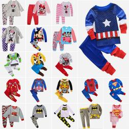 Toddler Kid Girls Boys Superhero 2Pcs Outfits Set Leisure We