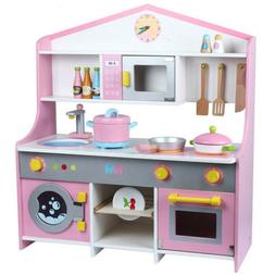 Toddler Kids Wooden Pretend Cooking Playset Kitchen Toys Coo