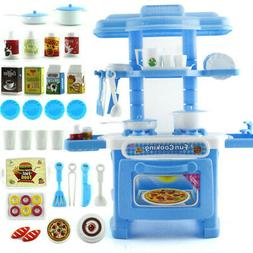 Toddler Kitchen Playset For Girls Boys Pretend Play Miniatur