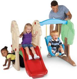 Toddler Play Swing Set Climber Hideout Slide Castle for Kids