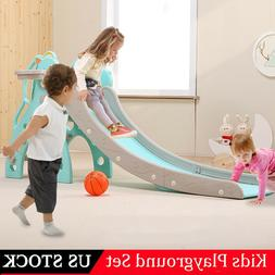 Toddler Slide Playset Climber Outdoor Playground Slides For