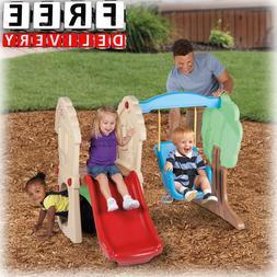 Toddler Slide Swing Boy Girl Kid Playset Child Fun Little Ti