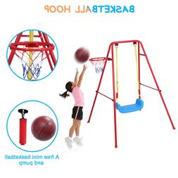 Toddler Swing Playset | 2 in 1 Swing Basketball Combination