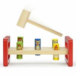 Toddler Toys For Kids, Wooden Wonders Pounding Bench Girls K