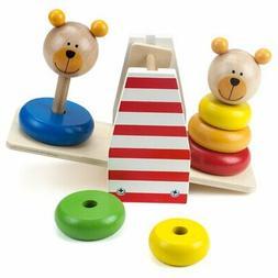 Toddler Toys, Wooden Wonders Balancing Bears Girls Boys Indo
