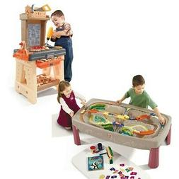 Step2 Tools and Trains Play Set - Kids Train Table and Workb