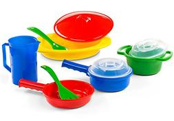 Kidzlane Toy Pots and Pans Kitchen Accessories, Durable and