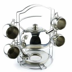 Timy Toy Tea Set 14pcs Stainless Steel Teapot Pretend Play T
