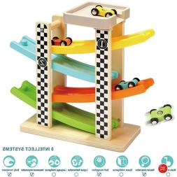 Toys For 1 Year Old Boy Girl Gifts 2 Toddler Wooden Race Tra