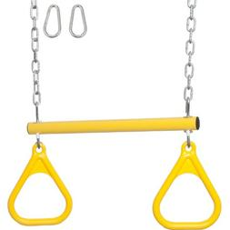 Trapeze Bar/Rings With Uncoated Chain