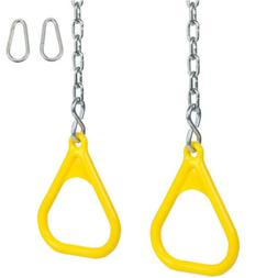 Swing Set Stuff TRAPEZE RINGS WITH CHAINS   With SSS Logo St