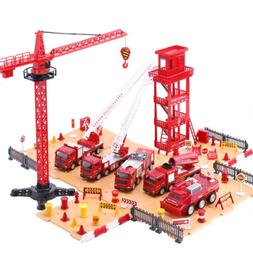 Truck Play Set,Emergency Rescue Vehicles w/ Station,Toys for