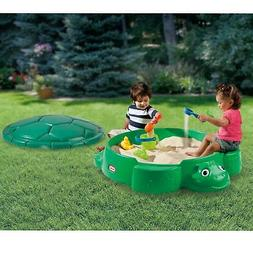 Turtle Sandbox With Cover Seats Outdoor Backyard Play Set *N