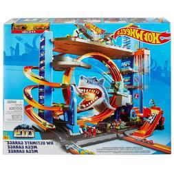 Hot Wheels Ultimate Garage Tower Shark Loop Racetrack 2 Vehi