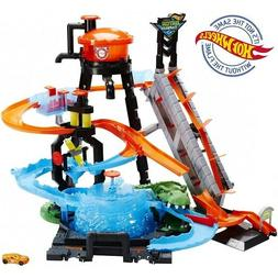 HOT WHEELS ULTIMATE GATOR CAR WASH PLAY SET W/COLOR SHIFTERS