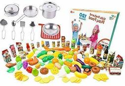 Ultimate Kitchen Play food for Kids - 120 pcs Plastic Play F