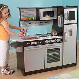 KidKraft Uptown Espresso KITCHEN Refrigerator Toddler Kids P