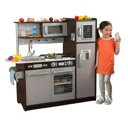 Uptown Espresso Kitchen with 30 Piece Play Food Accessory Se