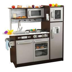 Uptown Espresso Kitchen with 30 Piece Play Food Set New Top