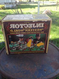 Vintage Mattel Injector Western World Cowboy Indian 3-D Cast