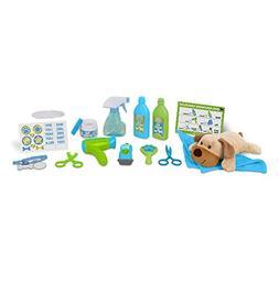 Melissa & Doug Wash & Trim Dog Groomer Play Set With Plush S